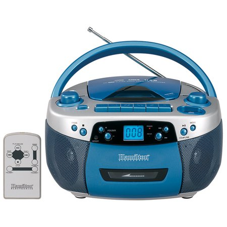 AM/FM MP3 Cassette CD Player with USB Remote (Cassette Player To Cds)