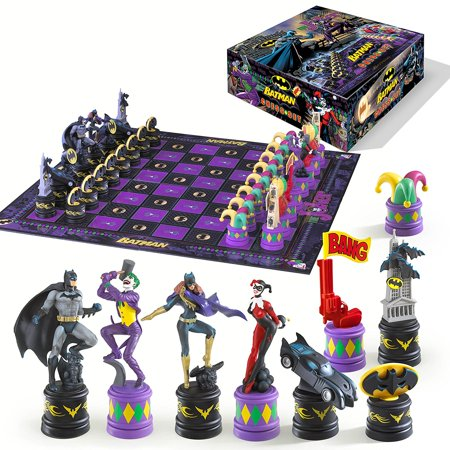 Batman Dark Knight vs The Joker Chess Set Noble Knight Games Dice