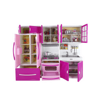 Kitchen Play Set Toy Fridge Toy Stove Toy Sink And Cabinets Doll Size Kitchen