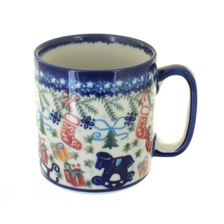 Polish Pottery Christmas Bounty Coffee Mug Art Pottery Coffee Mug
