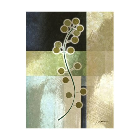Brushed Metro Stems IV Print Wall Art By James (James Burghardt Silver Stem)