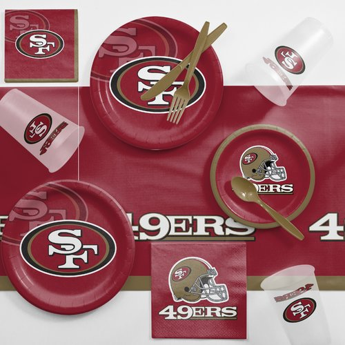 San Francisco 49ers Game Day Party Supplies Kit