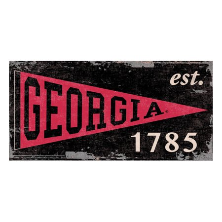 University of Georgia 6x12 Heritage Pennant Hanging Wood Sign](A Pennant Sign)