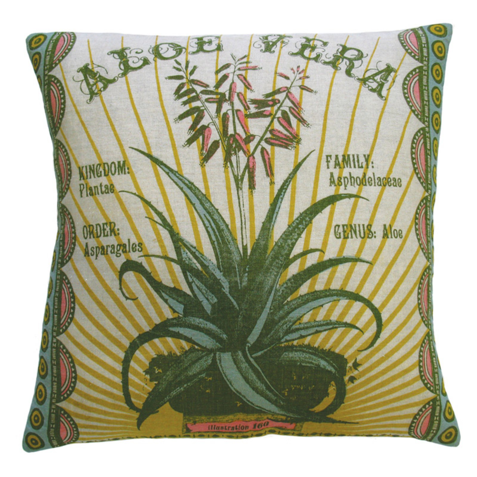 Koko Company Botanica Aloe Vera Decorative Pillow