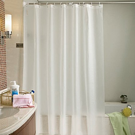 Mildew Free Vinyl Shower Curtain Liner71 X 71White