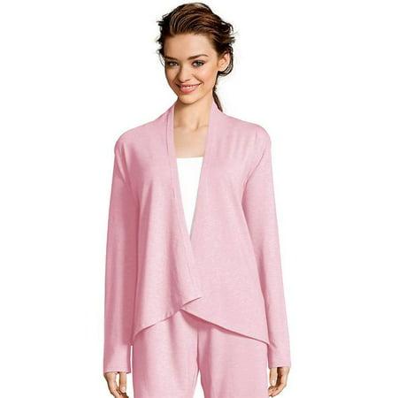Womens French Terry Lounge Wrap - Heathered Pink Lemonade, - Agenda Lounge Halloween