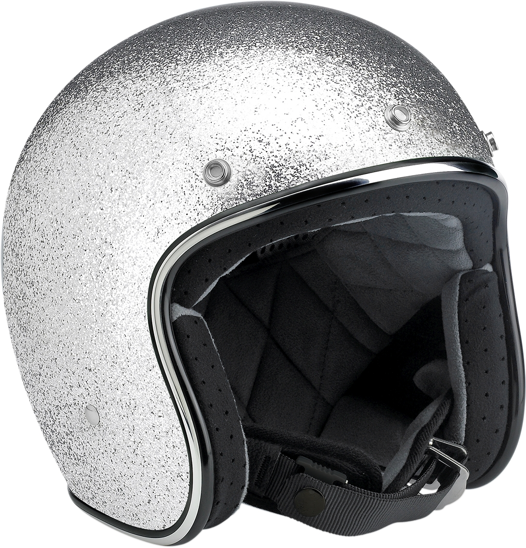 BILTWELL Bonanza Open Face Solid Color Helmets Silver 2XL  BH-SIL-DOT-2X