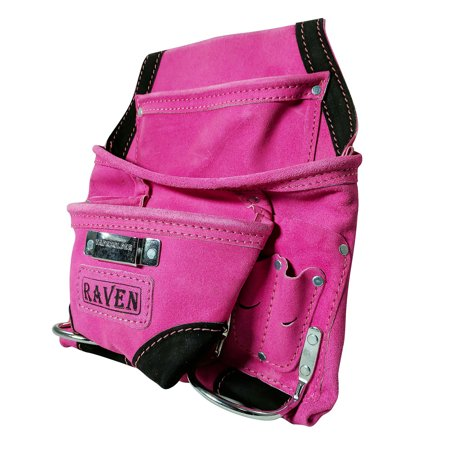 - Deluxe Carpenter Tool Belt Pouch Heavy Duty Suede Leather Fits Hammer And Nails
