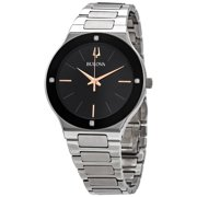 Bulova Millennia Quartz Black Dial Men's Watch 96E117