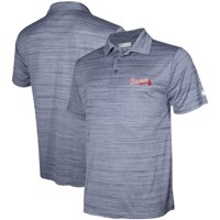 Men's Stitches Navy Atlanta Braves Team Logo Polo