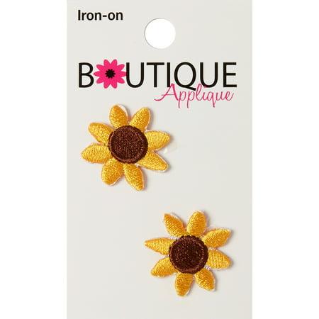 Iron-On Appliques-Sunflowers 2/Pkg