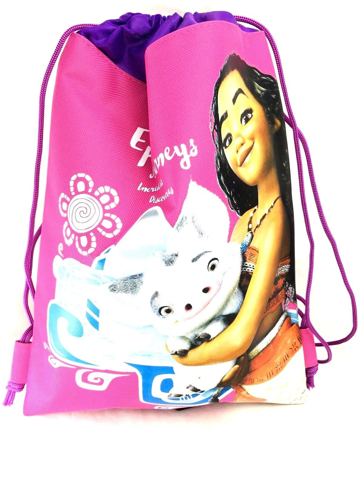 Party Favors Disney Moana Wallet-Passport Bag- String Sling Tote Bag Backpack (SLING BAG PINK)…