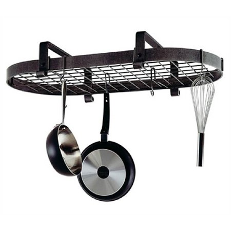 Low Ceiling Oval Pot Rack - Premier Low Ceiling Oval Pot Rack (Chrome)