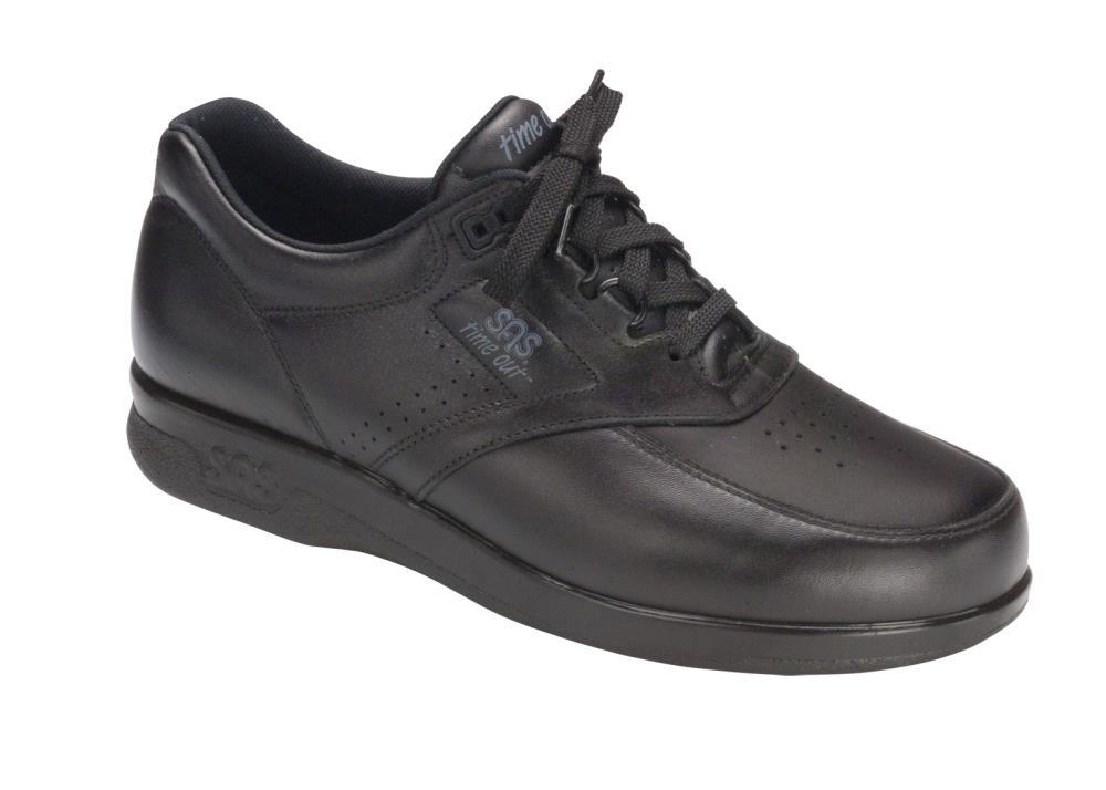 SAS Time Out Men's Tripad Comfort Black Leather Walking Shoe 6 US