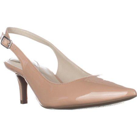 Womens A35 Babbsy Slingback Kitten Pointed-Toe Heels,