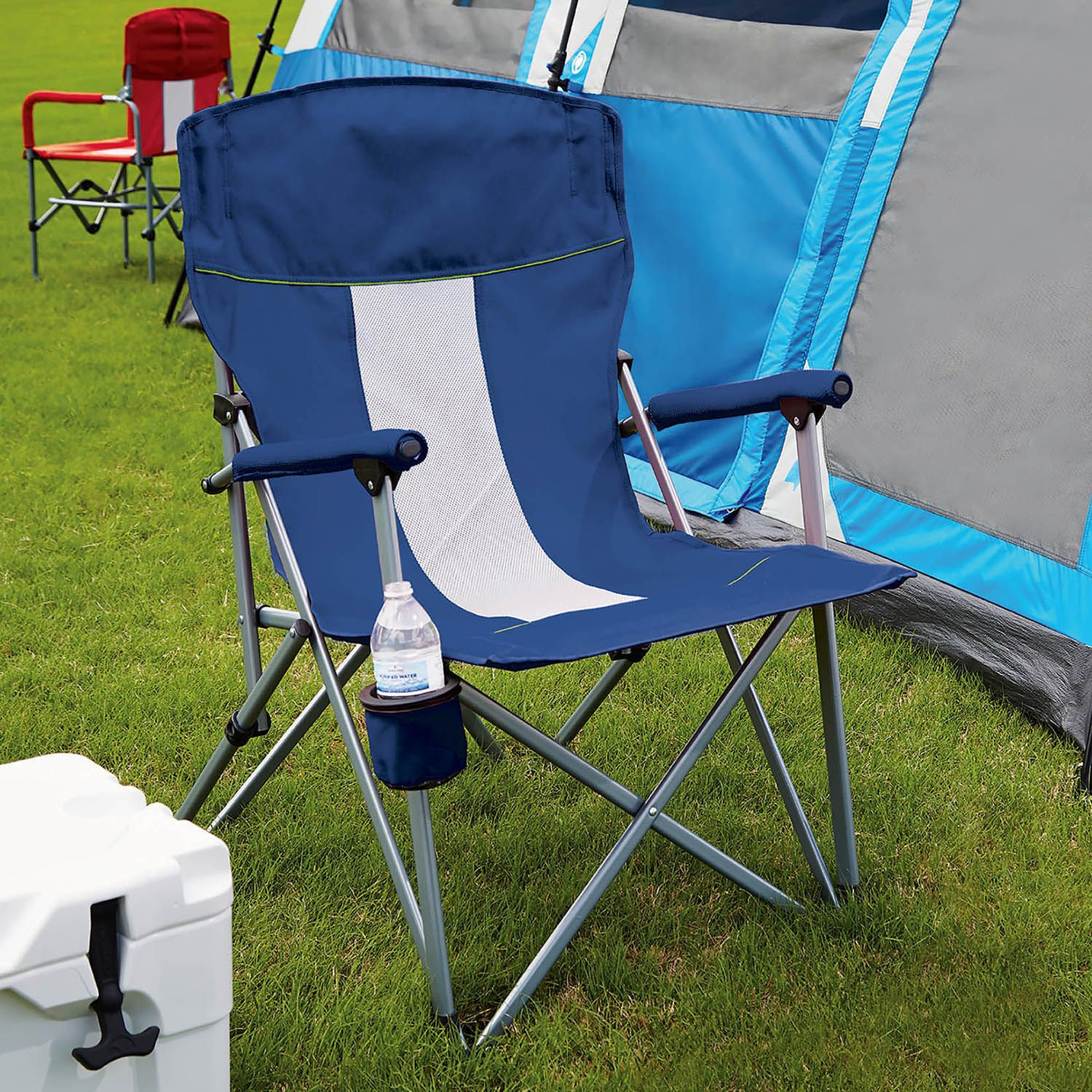 Member s Mark Folding Hard Arm Chair Blue Walmart