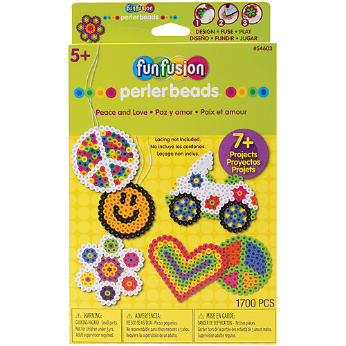 Perler Fun Fusion Bead Activity Kit, Peace And Love
