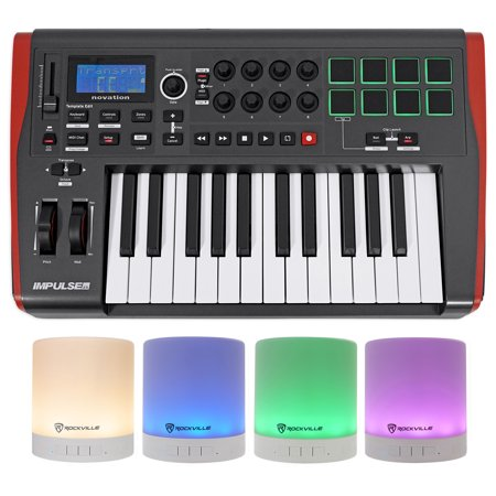 Novation IMPULSE 25 Ableton Live 25-Key MIDI USB Keyboard Controller + (Best Midi Controller For Live Performance)