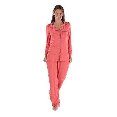 Texeresilk - Texere Women s Button-Up Sleepwear Set - Luxury Long ... 8eb4b665d