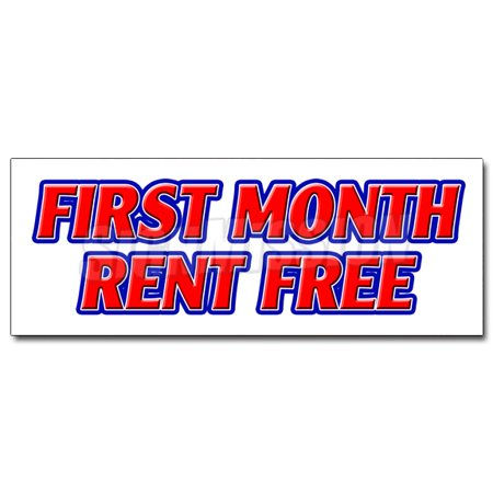 24   First Month Rent Free Decal Sticker Apartment Promotion Rent Lease Condo