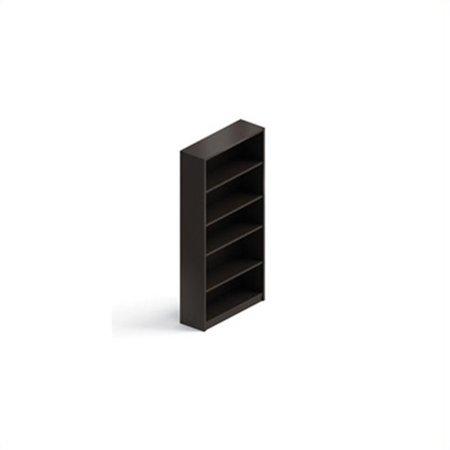 Global Genoa Laminate Bookcase in Dark Espresso - Global Genoa Series
