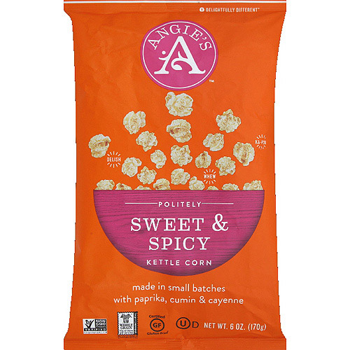 Angie's Politely Sweet & Spicy Kettle Corn, 6 oz, (Pack of 12)