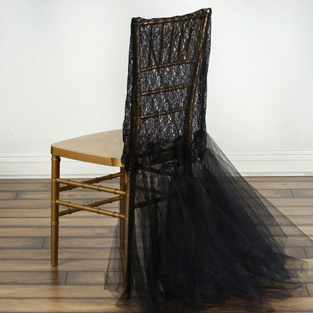 Black Wholesale Bridal Wedding Party Lace And Tulle Tutu Chair - Tulle Wholesale