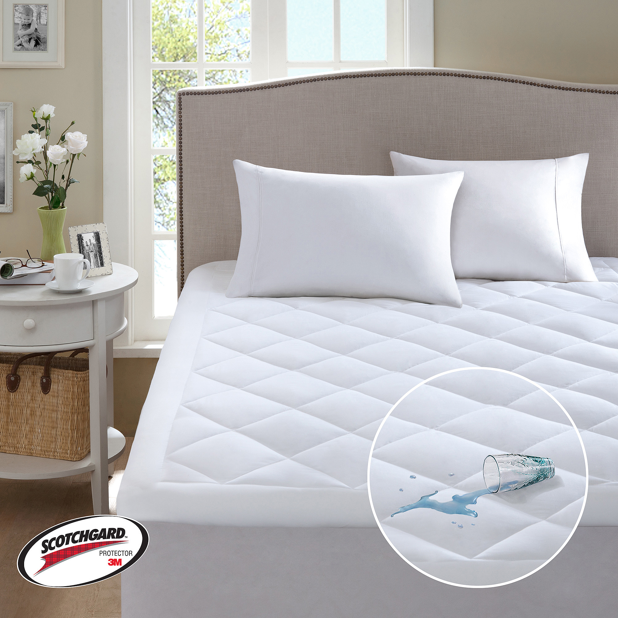 Mainstays Waterproof Fitted Vinyl Mattress Protector Walmartcom
