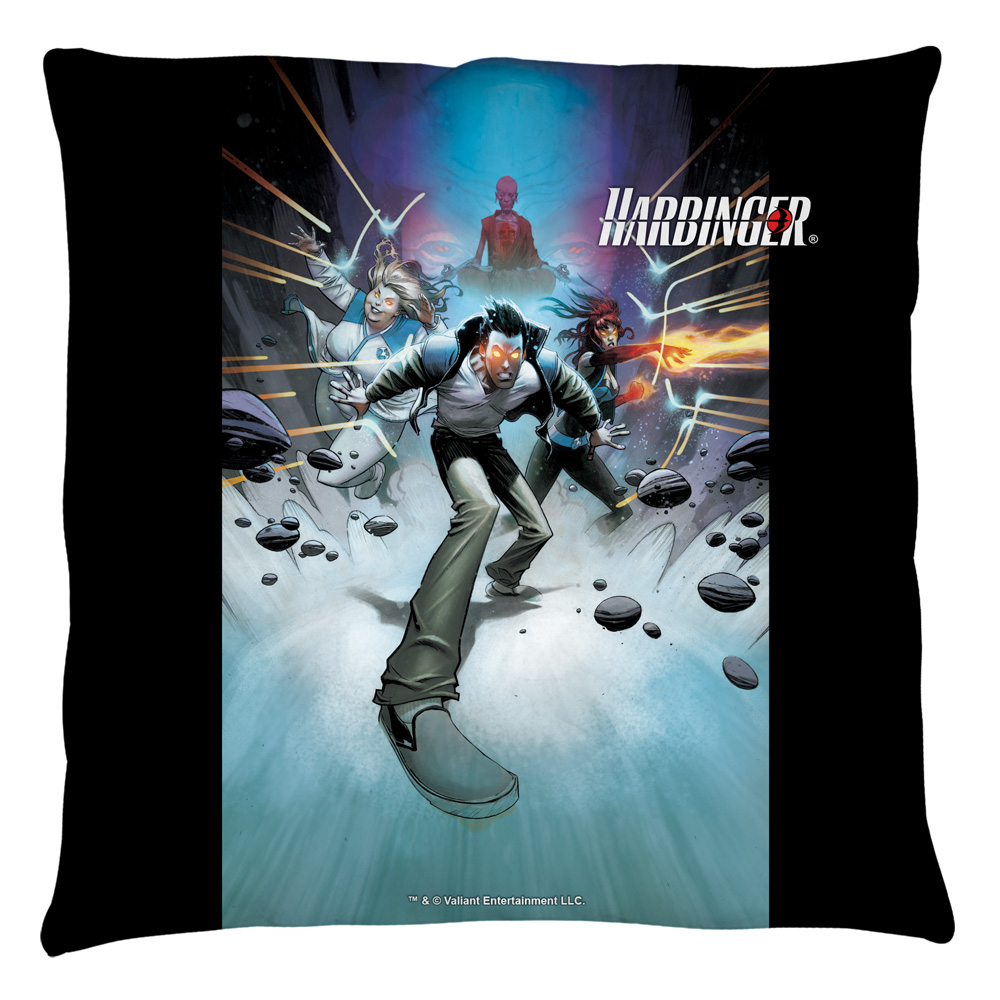 Harbinger Force Field Throw Pillow White 18X18
