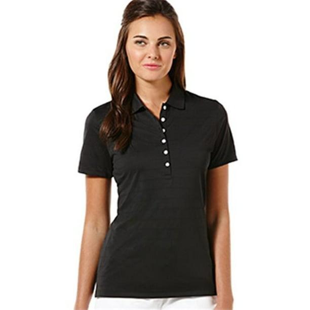 Women's Size Medium Short Sleeve Opti-Dri Golf Polo Shirt, Black