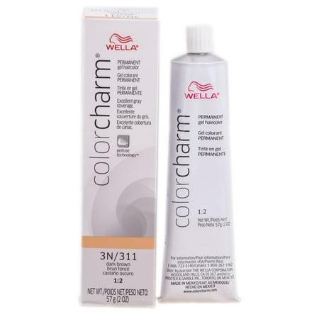Wella Color Charm Gel Permanent Tube Haircolor - Color : #311/3N DARK BROWN
