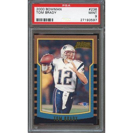 2000 Bowman 236 Tom Brady New England Patriots Rookie Card Psa 9