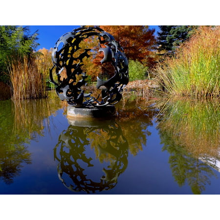 LAMINATED POSTER Sculpture Botany About Freiburg Mirroring Pond Poster Print 24 x 36 (About Pond)