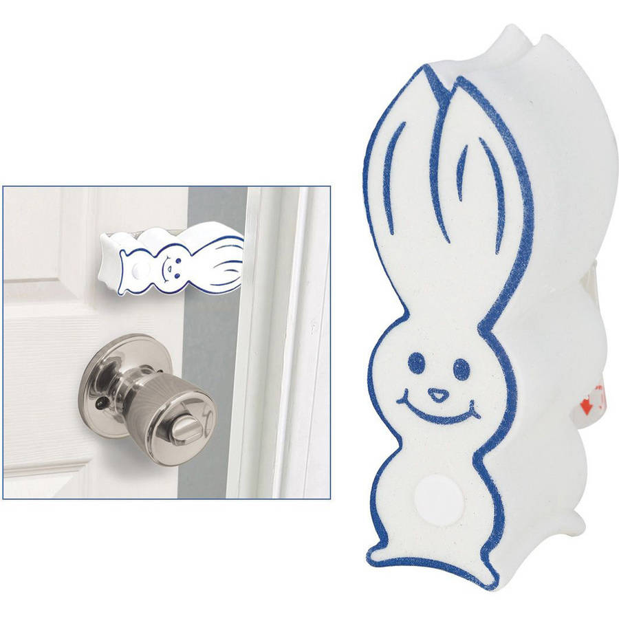 Pinch-Not Door Bunny Child and Baby Safety Finger Guard Bumper Stop, 2-Pack