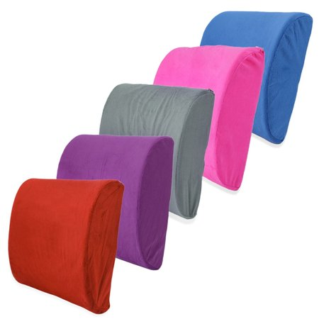Soft Memory Breathable Healthcare Lumbar Cushion Back Waist Support Pillow - image 3 de 9