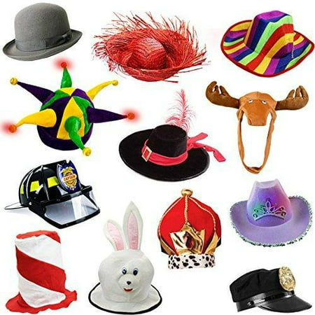 7f4d75a5f35 6 Assorted Dress Up Costume  amp  Party Hats by Funny Party Hats -  Walmart.com