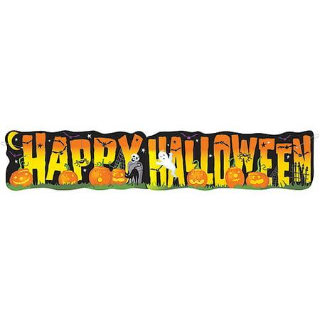 Giant Spooky Smiles Halloween Banner - Walmart.com