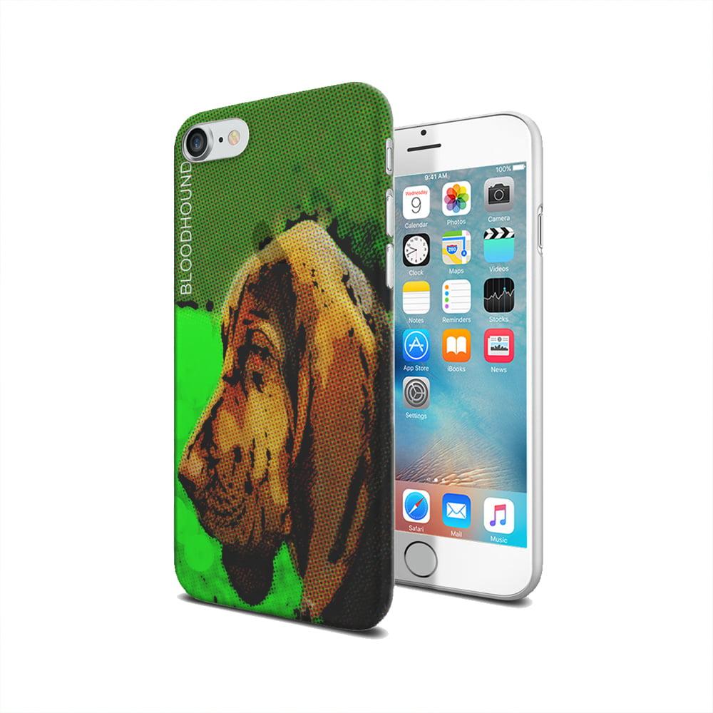 KuzmarK iPhone 7 Clear Cover Case - Bloodhound Comic Strip