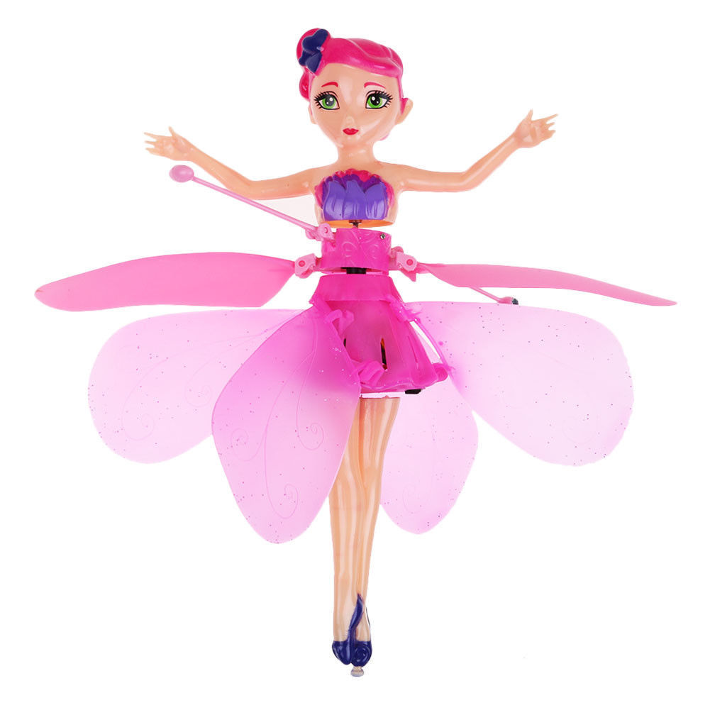 Flying Pink Fairy Pixie Doll Infrared Induction Control Princess Toy Drone Gift by