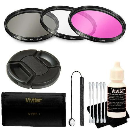 Vivitar 67mm Professional Digital Filter Kit + Accessory Kit for 67mm Lenses ()