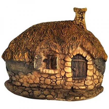 Top Collection Enchanted Story Garden and Terrarium Thatched Roof Fairy House Outdoor Decor, - Enchanted House