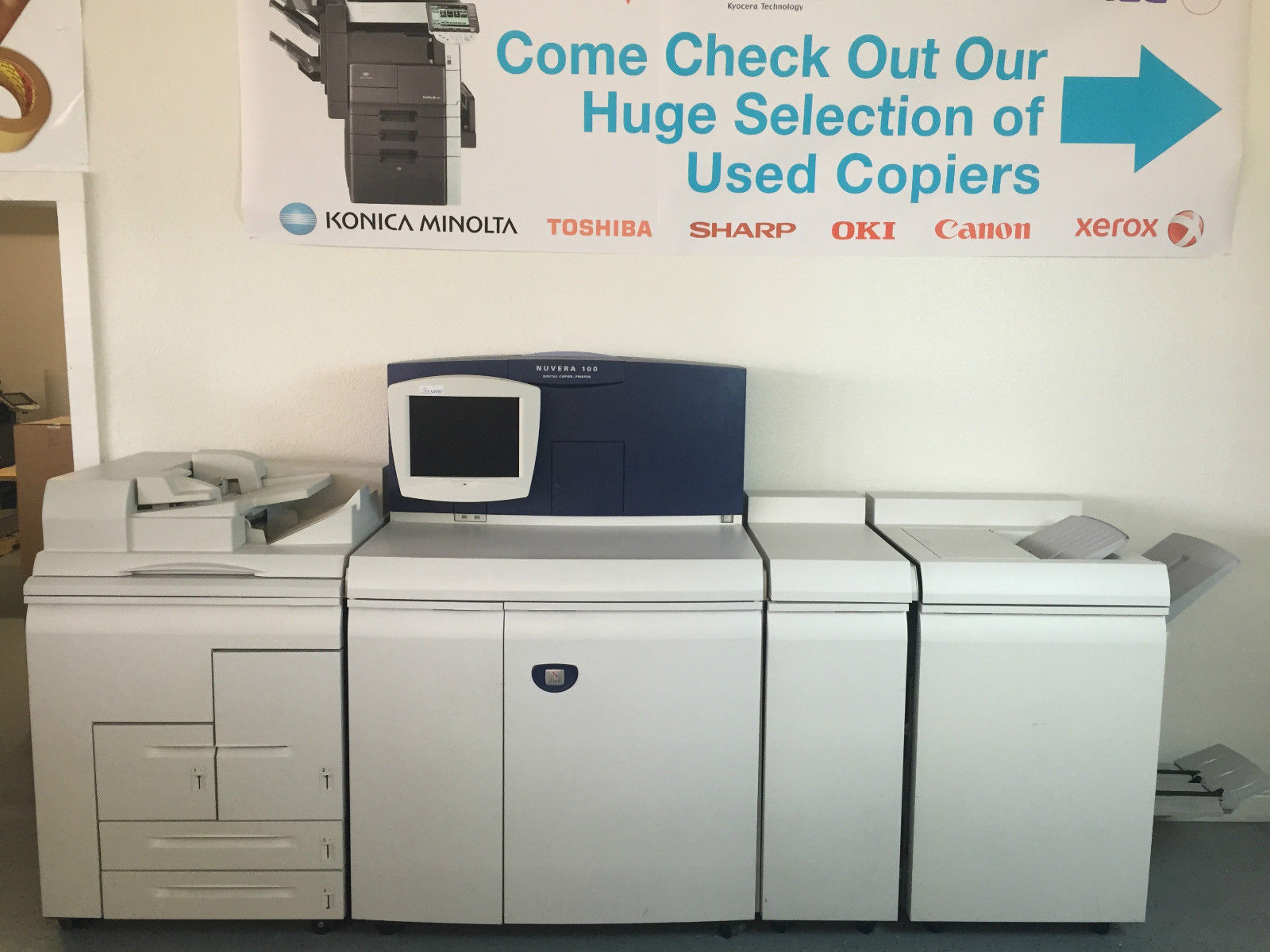 Xerox Nuvera 100 Digital Copier Printer with Booklet finisher & Document Feeder by Xerox