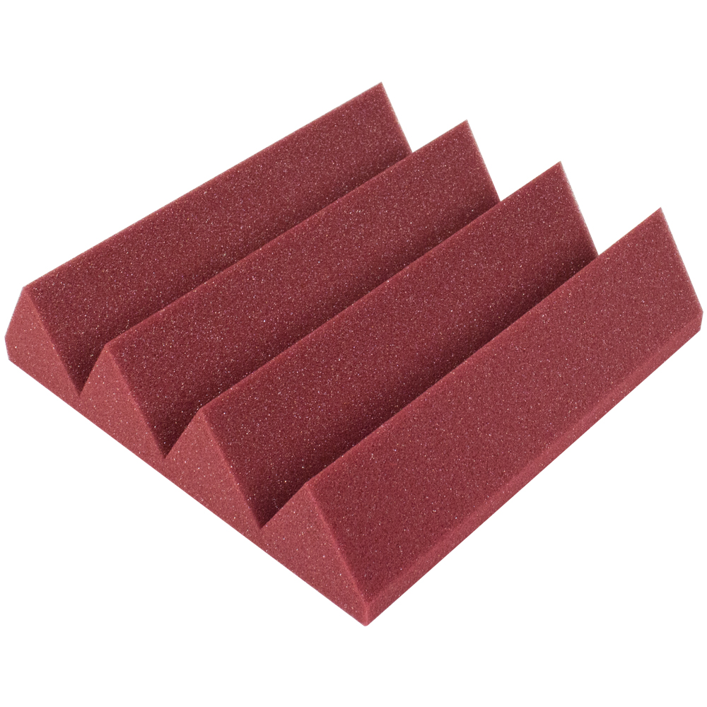 Seismic Audio  - Burgundy 3 Inch Studio Acoustic Foam Sheet - Sound Dampening - SA-FMDM3-Burgundy
