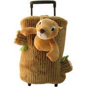 3168 Squirrel Plush Rolling Backpack