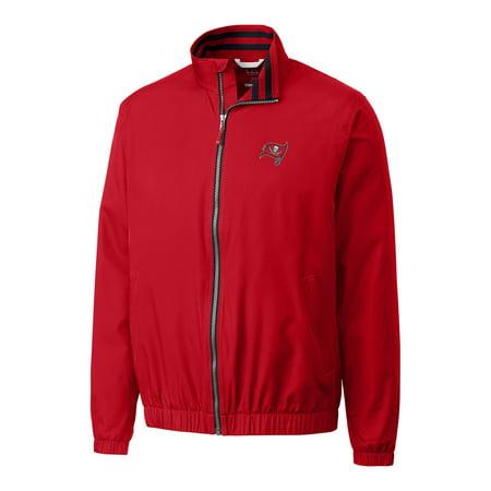 Tampa Bay Buccaneers Classic Jacket (Tampa Bay Buccaneers Cutter & Buck Big & Tall Nine Iron Full-Zip Jacket - Red )