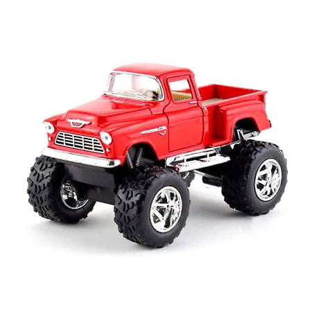 Chevy Pickup Truck - Kinsmart Off Road Big Foot Monster 1955 Chevy Stepside PickUp Truck 1:32 RED!4X4