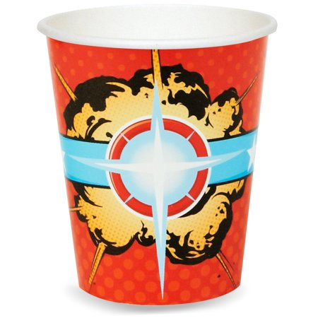 Superhero Comics Party Supplies 48 Pack Paper - Superhero Cups