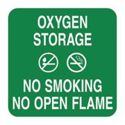 SIGN COMPLY 42297-11 GREEN No Smoking Sign