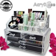 Acrylic Makeup Organizer Cosmetic Jewelry Display Box 2 Piece Set By Acrylicase Image 3 Of 6