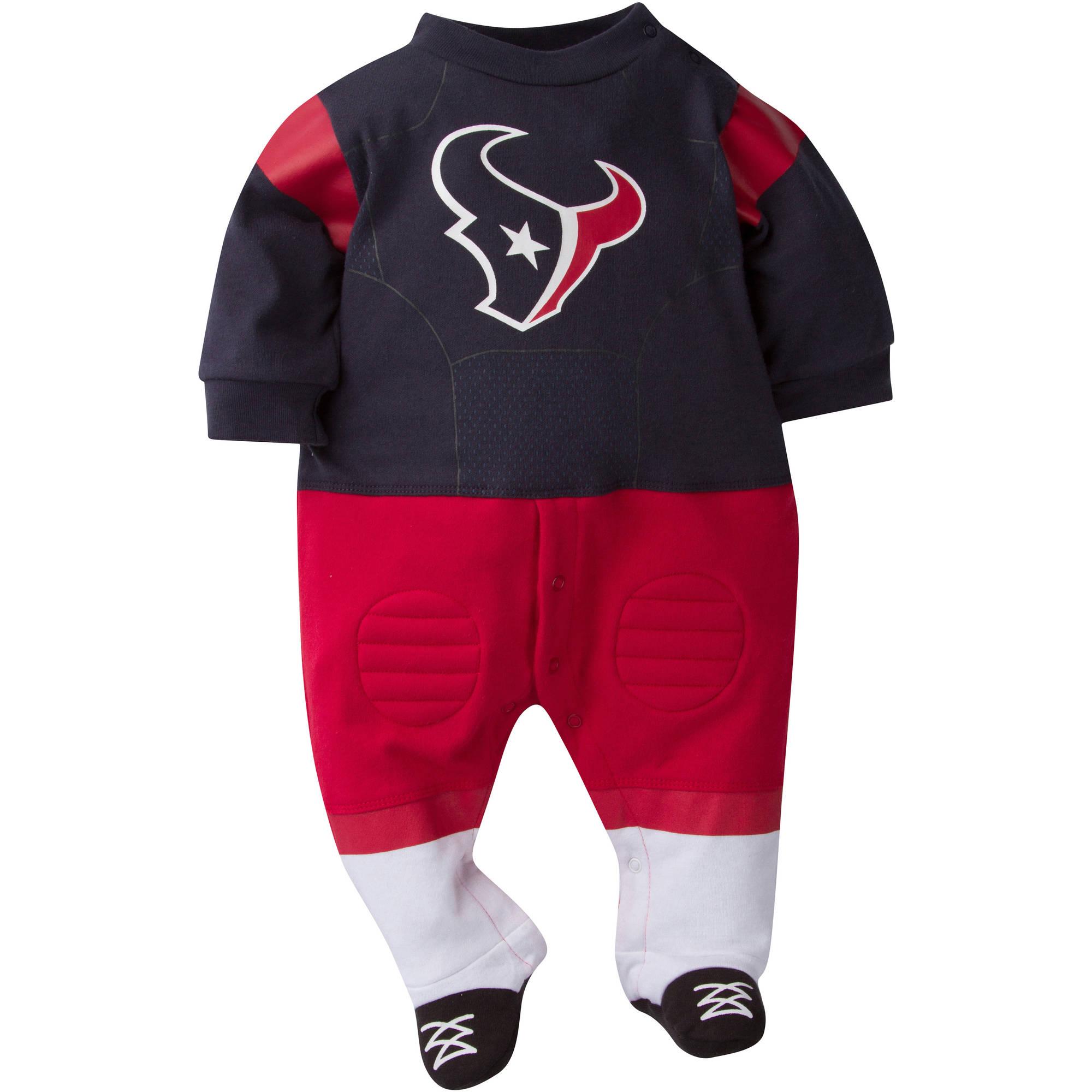 NFL Houston Texans Baby Boys Team Uniform Footysuit with Cleats